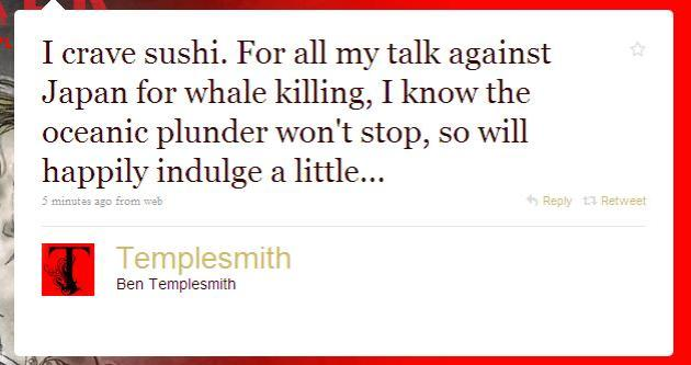 Ben Templesmith on Whaling and Sushi