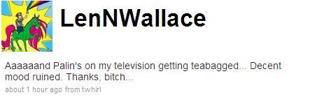 Len Wallace Palin tweet