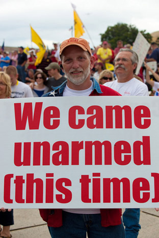 We came unarmed (this time)