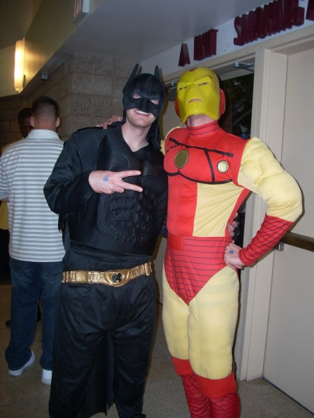 Batman and Iron Man Enjoy the Jones/Hopkins Fight