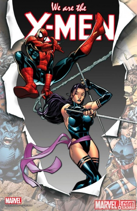 Spider-man and Psylocke