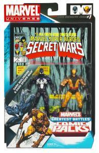 MVL Secret Wars #4 Dark S-M and Wolverine Packaging