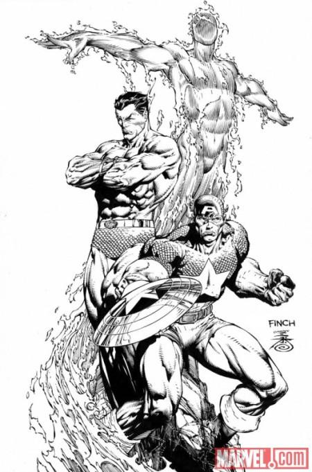 Steve Rogers Super Soldier #1 Finch Sketch Variant