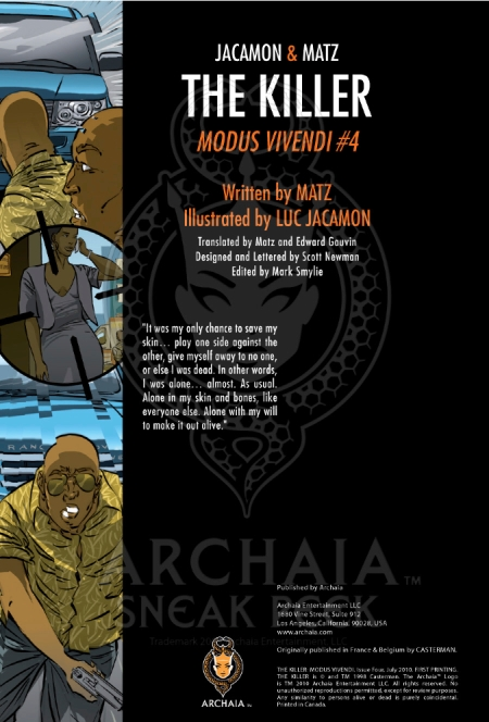 The Killer - Modus Vivendi #4 Preview_IFC