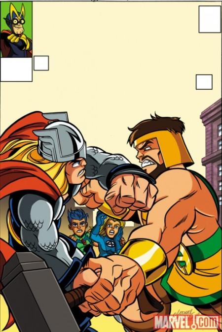 Avengers #5 Super Hero Squad Variant Cover