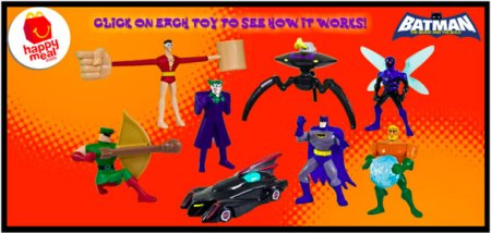Batman Brave and the Bold Happy Meals