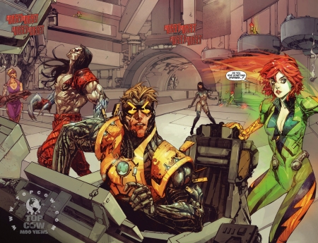 Cyberforce Hunter/Killer TPB Volume 1 Page_12 and 13