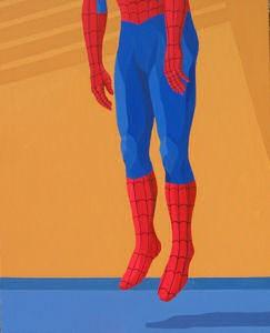 Giuseppe Veneziano Hanging Spider-man