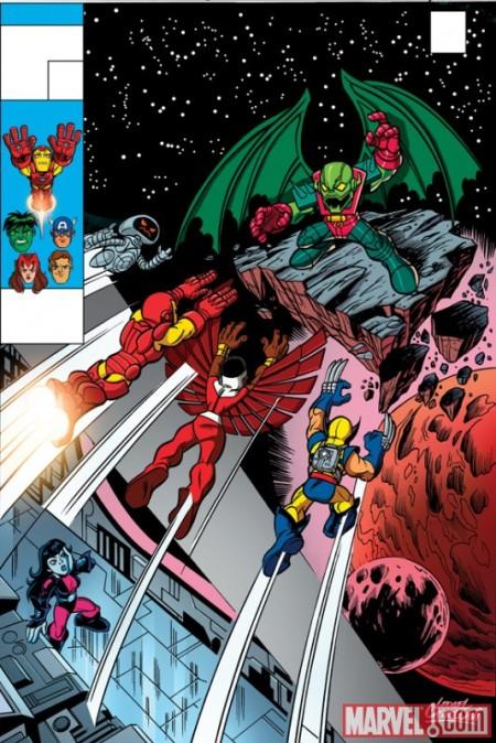 Invincible Iron Man #30 Super Hero Squad Variant Cover