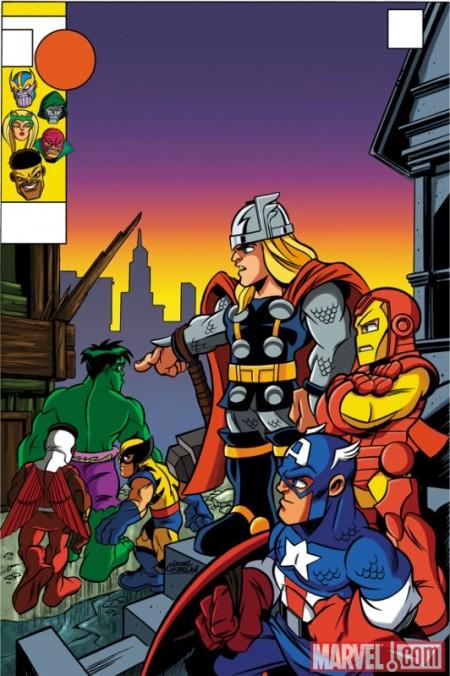 New Avengers #4 Super Hero Squad Variant Cover