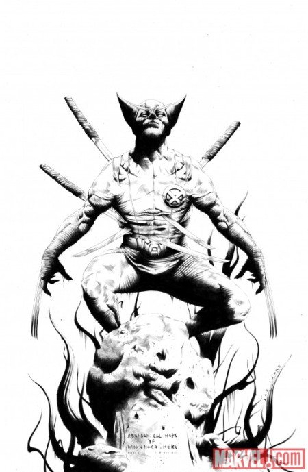 Wolverine #1 Sketch Variant Cover