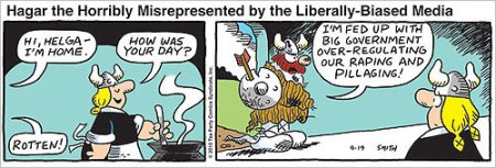 Hagar the Horribly Misrepresented by the Liberally-Biased Media