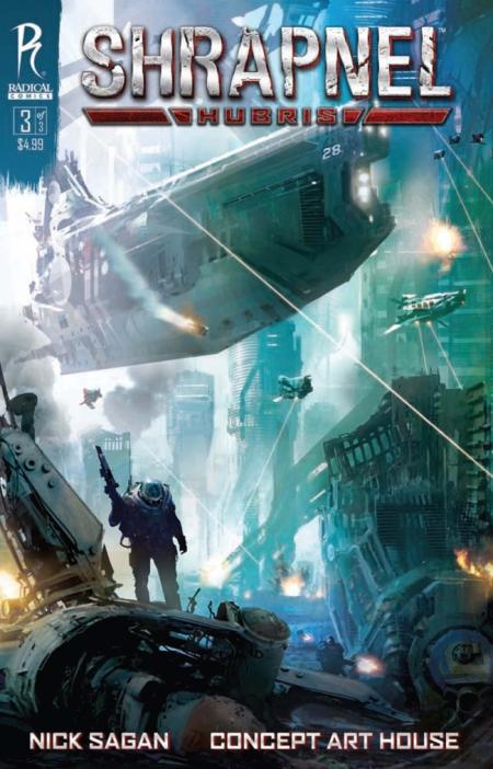 Shrapnel Hubris#3 Cover