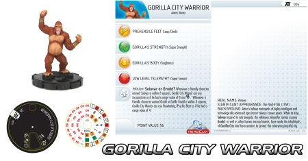 Heroclix Gorilla City Warrior