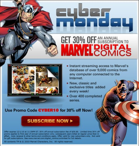Marvel Cyber Monday