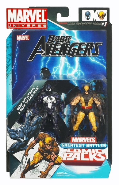 Marvel Universe Dark Wolverine and Dark Spider-man