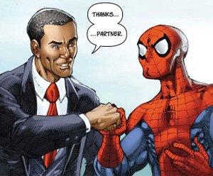 President Obama and Spider-Man