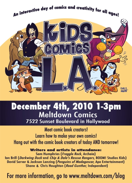 Kids Comics LA flyer
