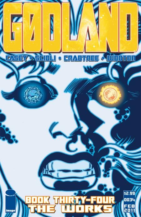 Gødland #34 cover