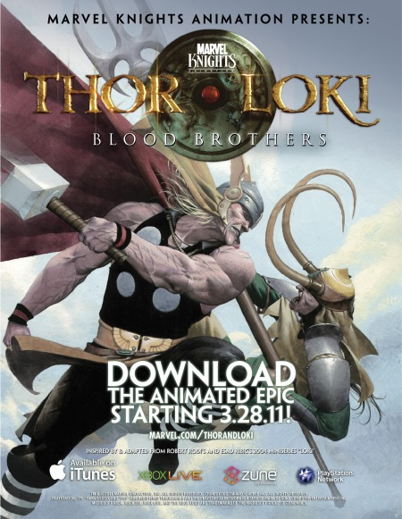 Marvel  KnightsAnimation Thor And Loki Blood Brothers Mini Poster