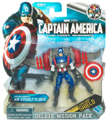 Captain America Air Assault Glider with launching shield in-pack