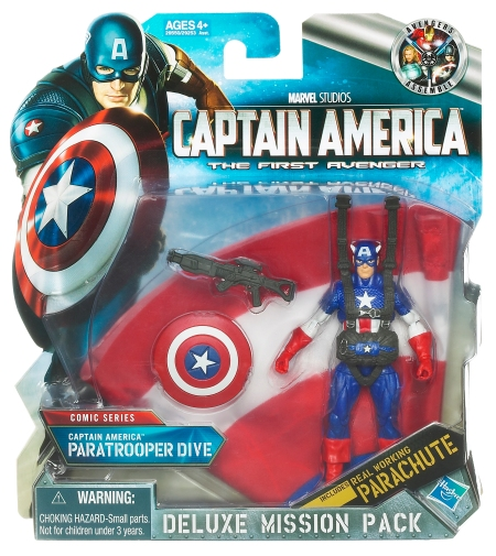Captain America Paratrooper Dive with parachute in-pack