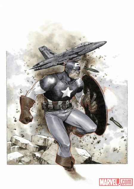 Captain America #1 Cover Coipel Variant