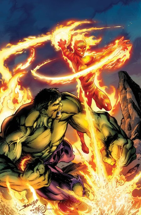 Incredible Hulk & The Human Torch: From The Marvel Vault #1 Cover
