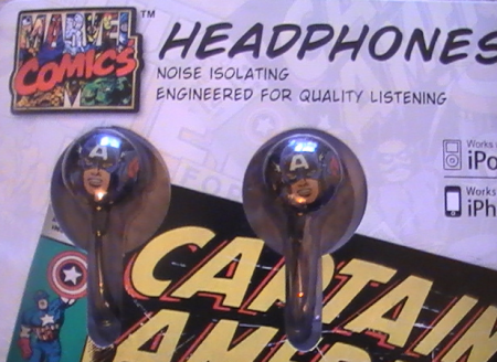 Marvel Captain America Headphones Front Close Up