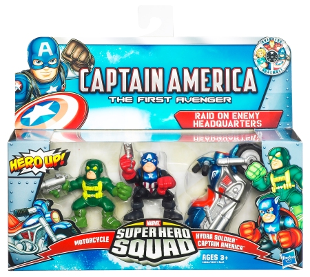 Super Hero Squad - Captain America, Motorcycle, Hydra Soldier