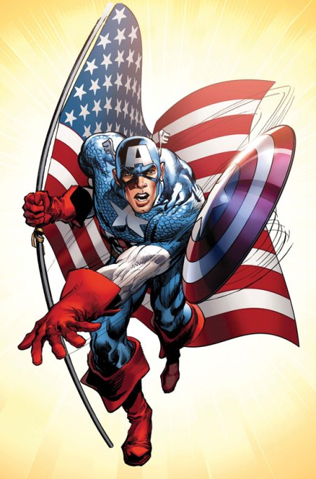 Captain America #1 Cover Adams