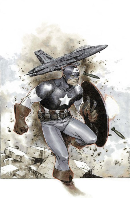Captain America #1 Cover Coipel