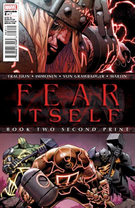 Fear Itself #2 Second Printing Variant Cover