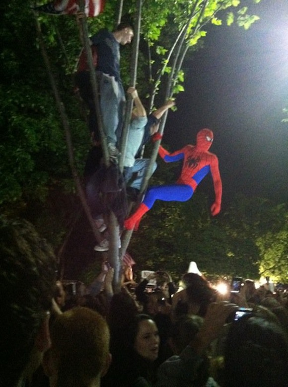Spider-Man outside the White House