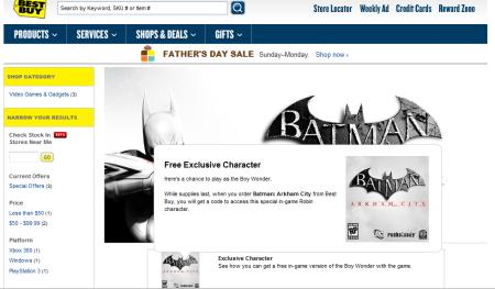 Batman Arkham Asylum Robin Best Buy
