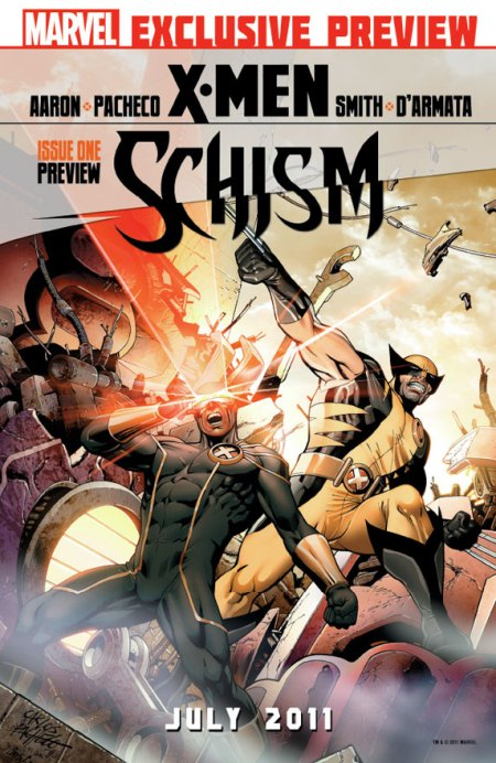 X-Men Schism #1 Cover