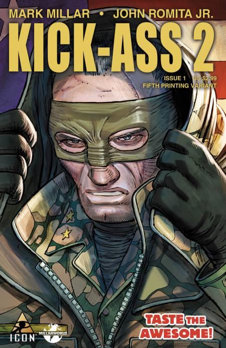 KICK ASS 2 #1 5th Printing Cover