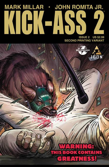 KICK ASS 2 #2 2nd Printing Cover