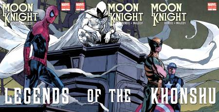MOON KNIGHT #1 #2 #3 Covers