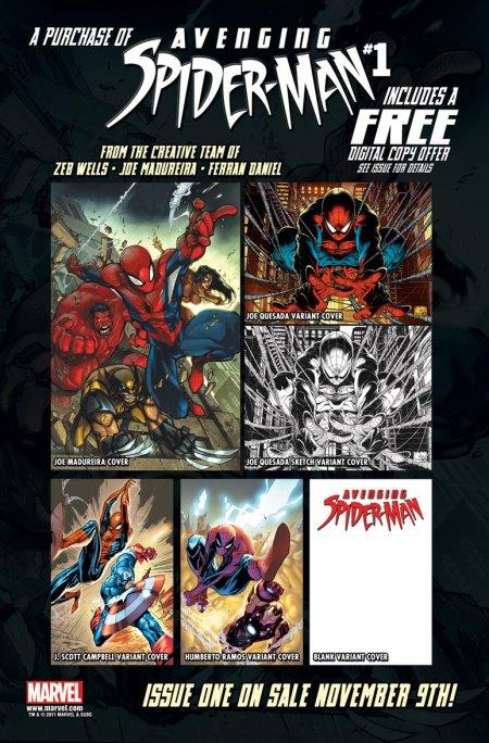 Avenging Spider-Man #1 Promo