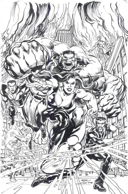 Defenders #1 Neal Adams Cover