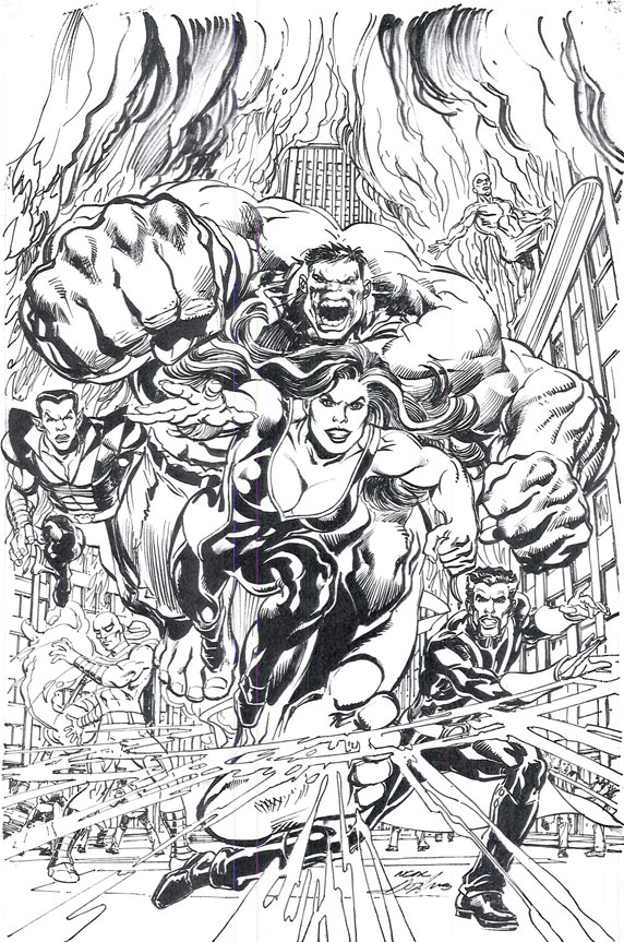 Defenders #1 Neal Adams Cover