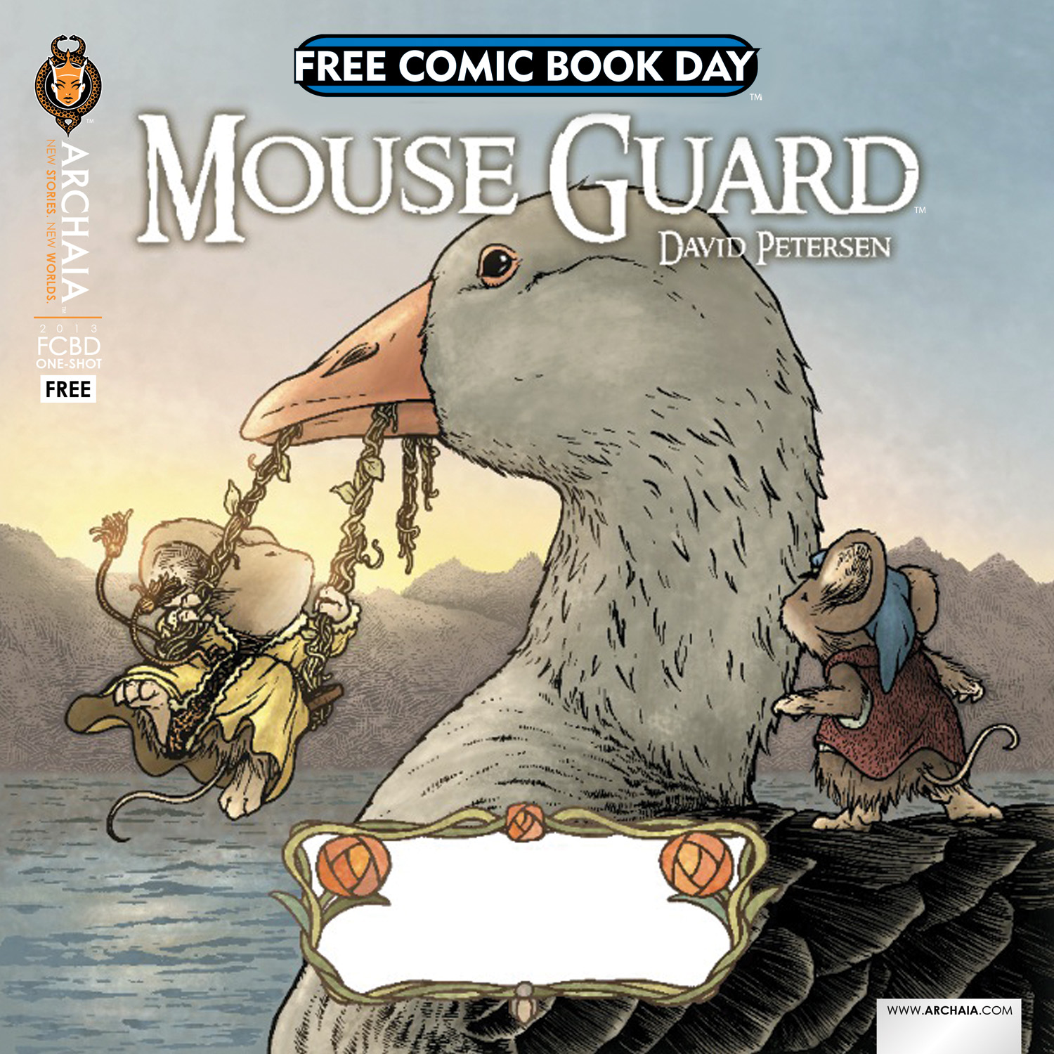 Free Comic Book Day 2013: Preview: Mouse Guard/Rust 2013 Free Comic Book Day Flip