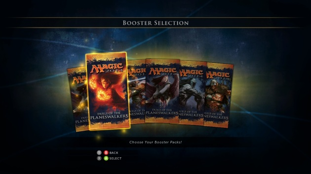 Magic 2014 - XBLA - Booster Selection