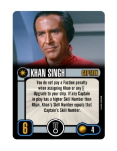 Star Trek Attack Wing Khan Singh Promo Card