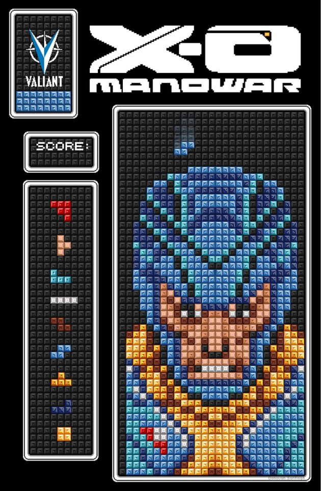 x-o manowar 8 bit cover