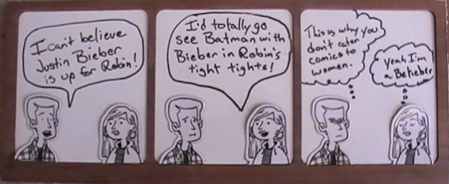 Bieber as Robin Cartoon