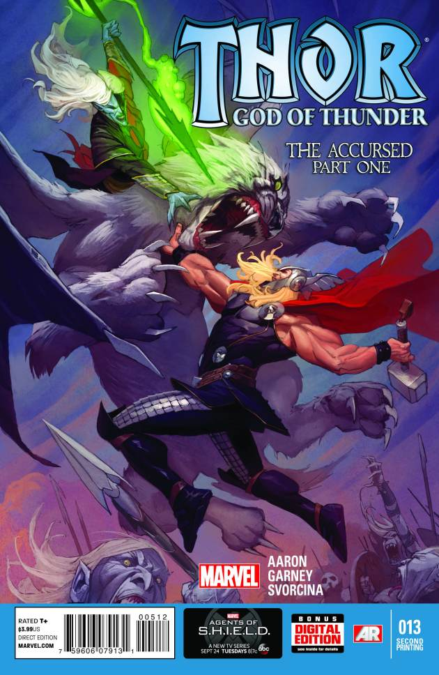 Thor God of Thunder 13 2nd Printing Cover