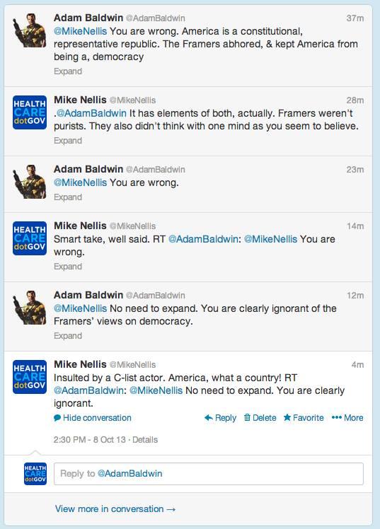 adam baldwin debates the founding of the us