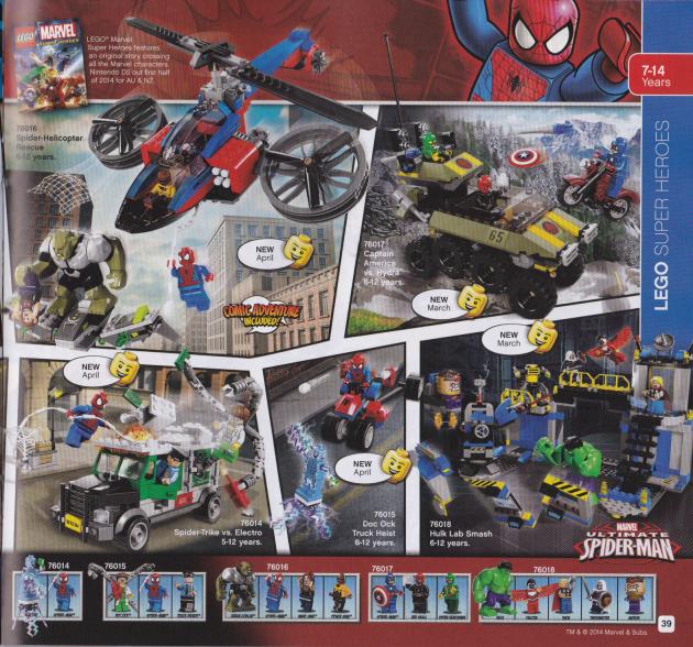 New Marvel Universe Lego Sets for 2014